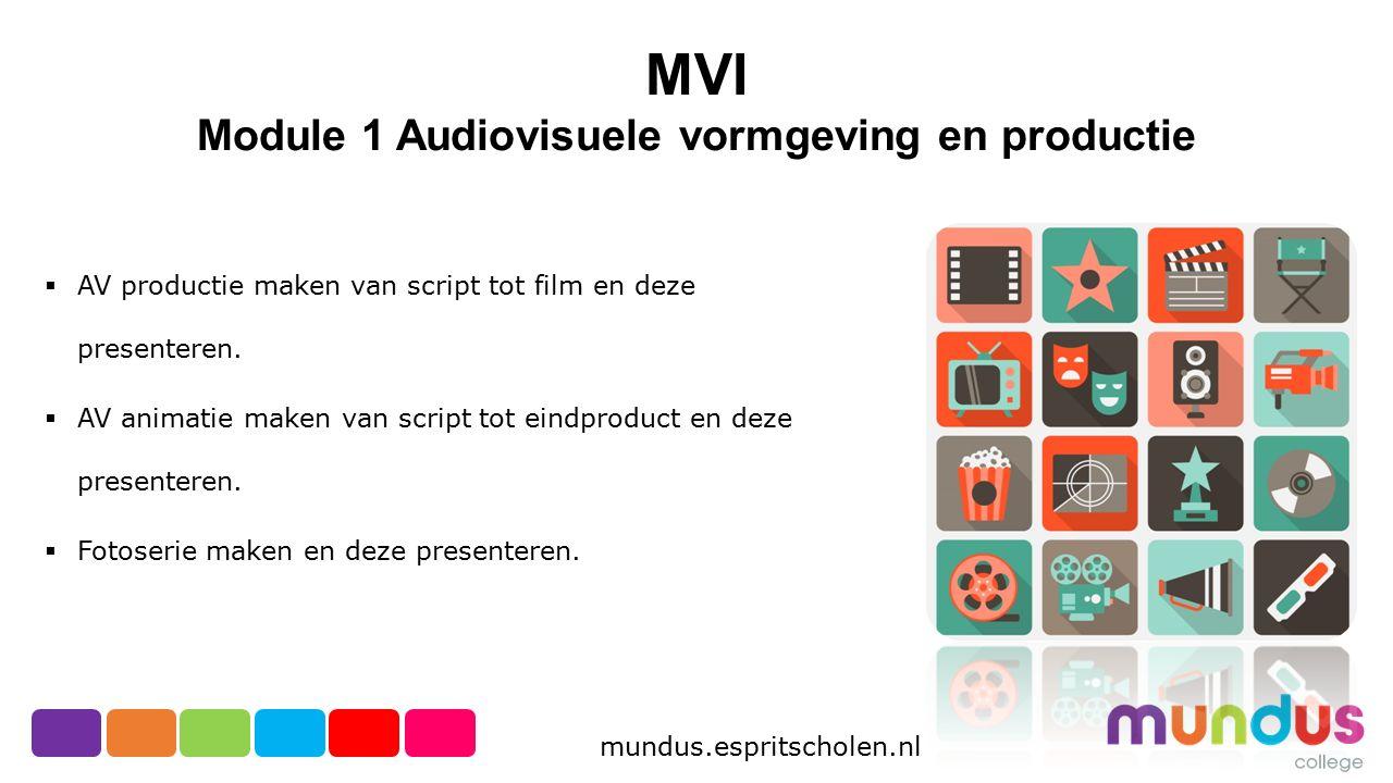 Module 1 Audiovisuele vormgeving en productie