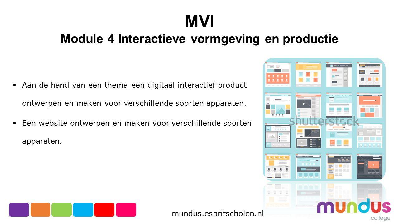 Module 4 Interactieve vormgeving en productie