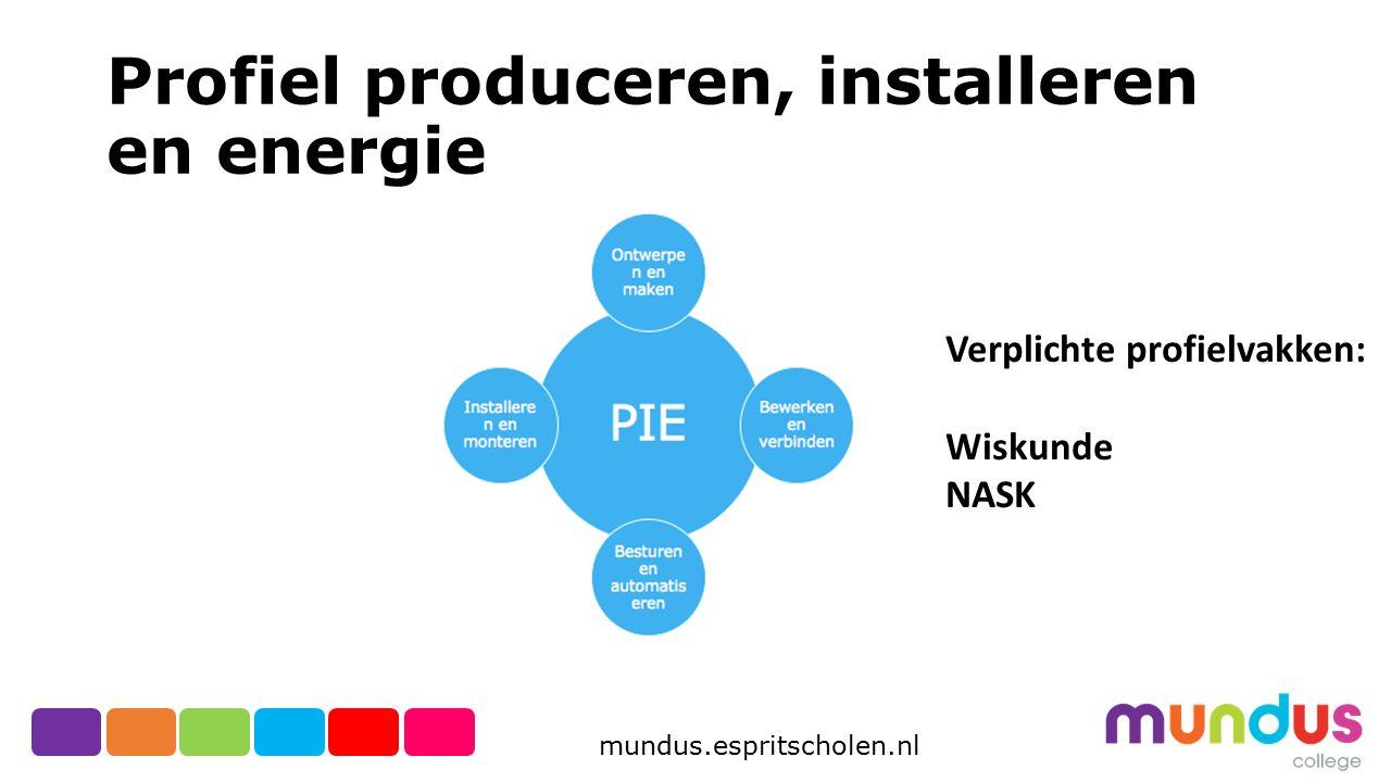 Profiel produceren, installeren en energie