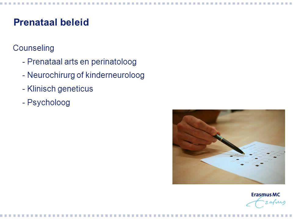 Prenataal beleid Counseling - Prenataal arts en perinatoloog