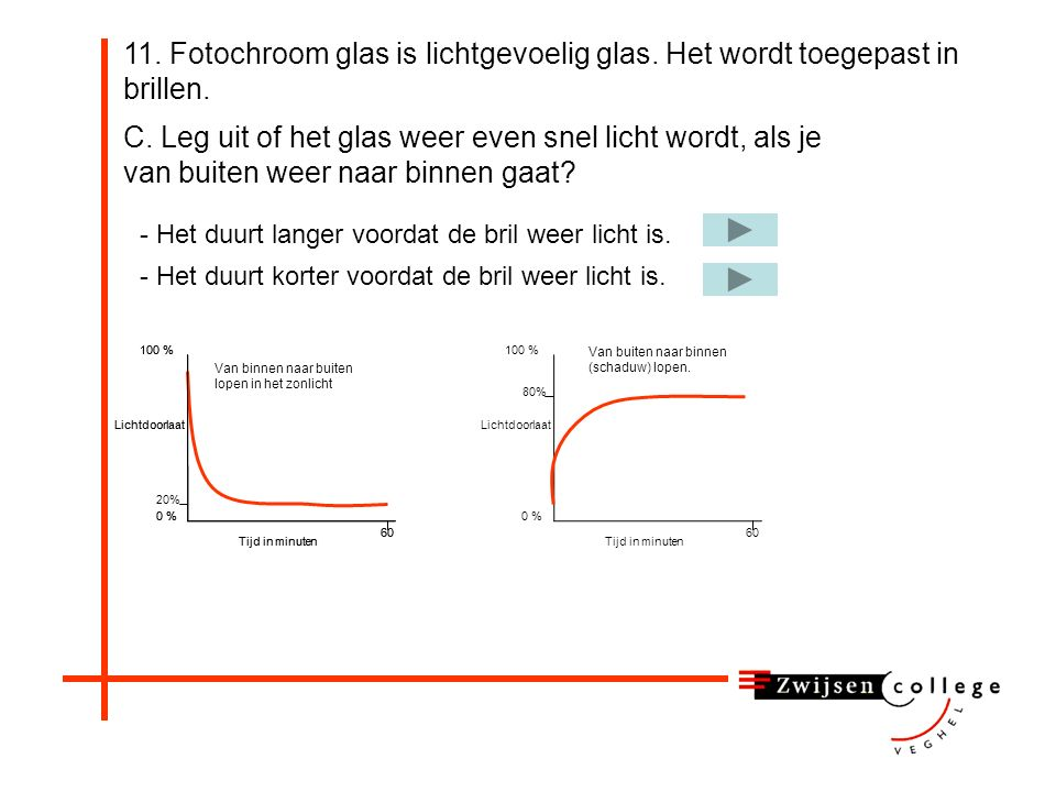 11. Fotochroom glas is lichtgevoelig glas