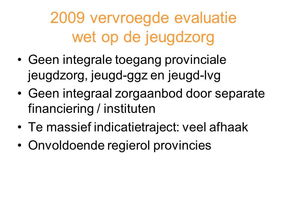2009 vervroegde evaluatie wet op de jeugdzorg