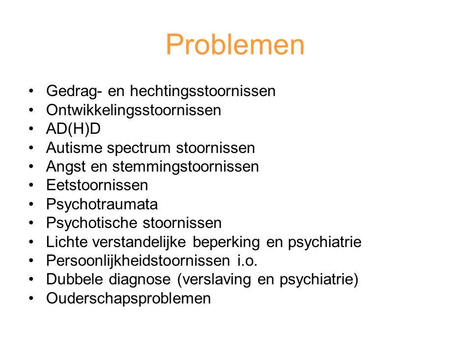 Problemen Gedrag- en hechtingsstoornissen Ontwikkelingsstoornissen