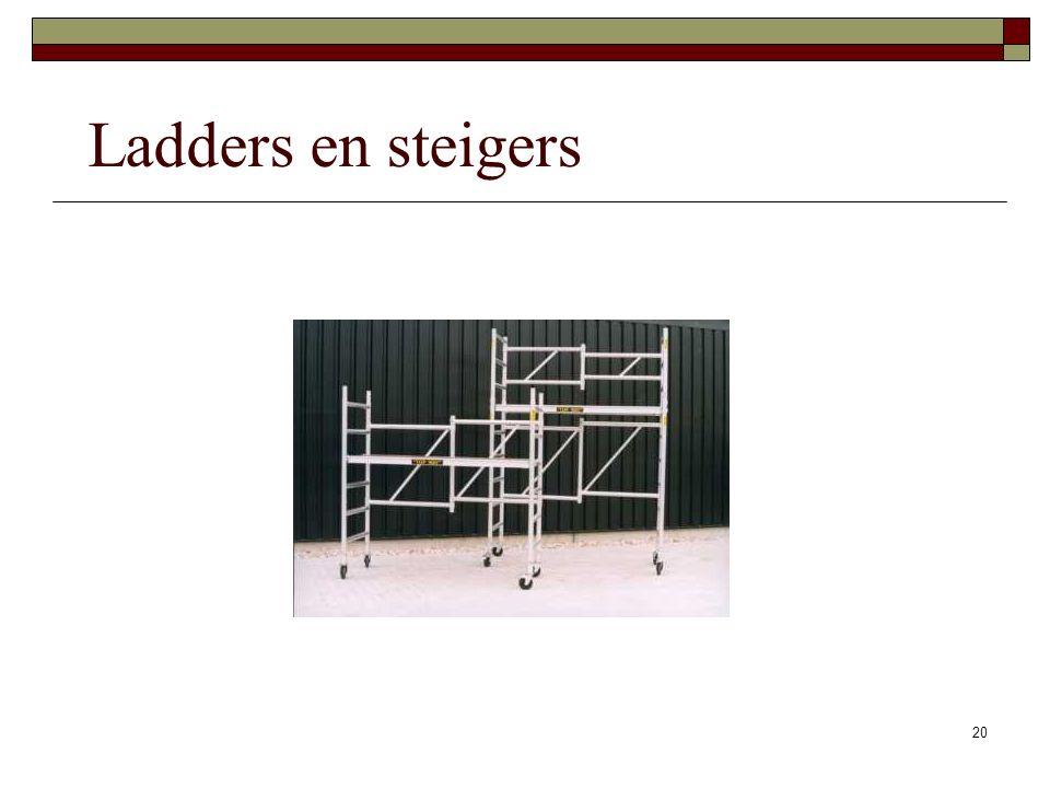 Ladders en steigers