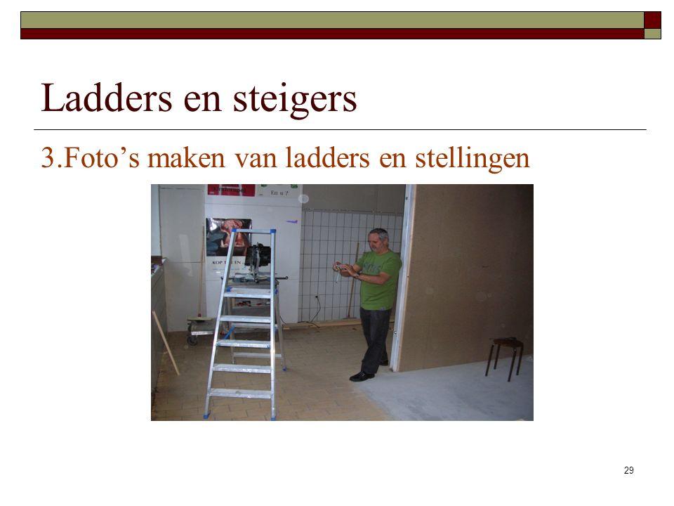 Ladders en steigers 3.Foto's maken van ladders en stellingen