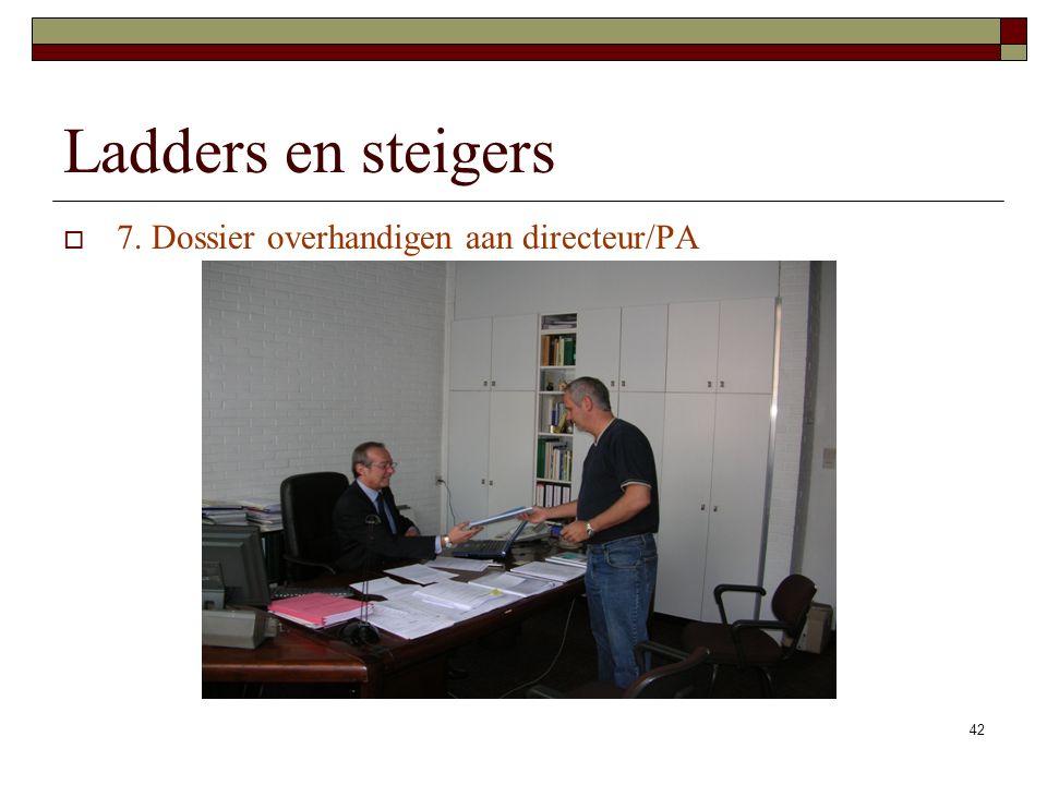 Ladders en steigers 7. Dossier overhandigen aan directeur/PA