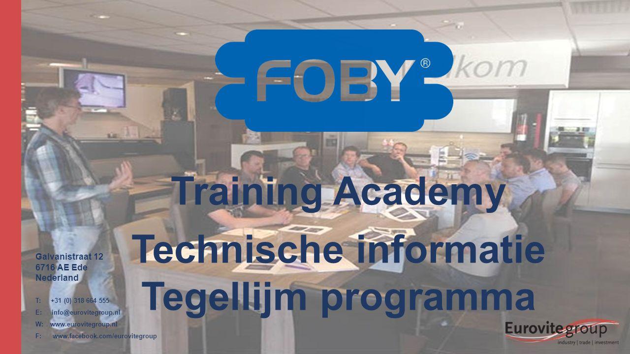 Technische informatie Tegellijm programma