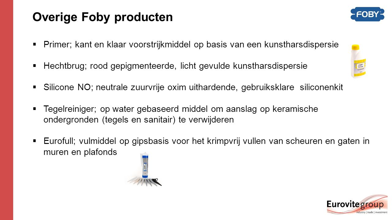 Overige Foby producten
