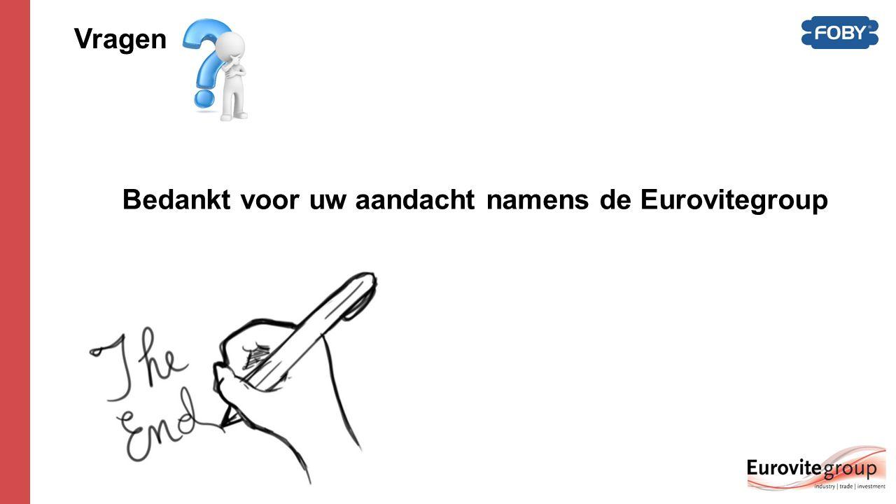 Vragen Bedankt voor uw aandacht namens de Eurovitegroup