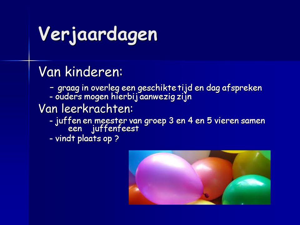 Verjaardagen Van kinderen: