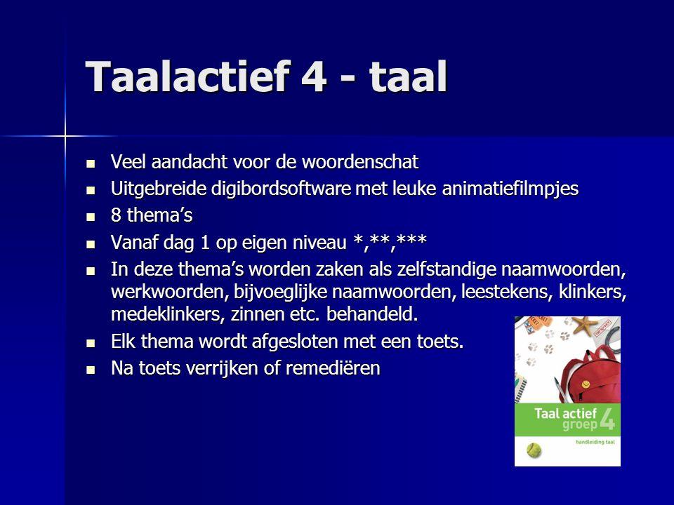 Taalactief 4 - taal Veel aandacht voor de woordenschat