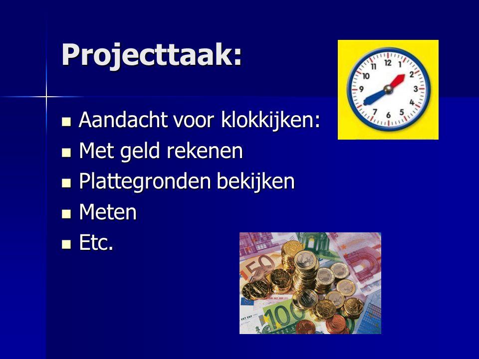 Projecttaak: Aandacht voor klokkijken: Met geld rekenen