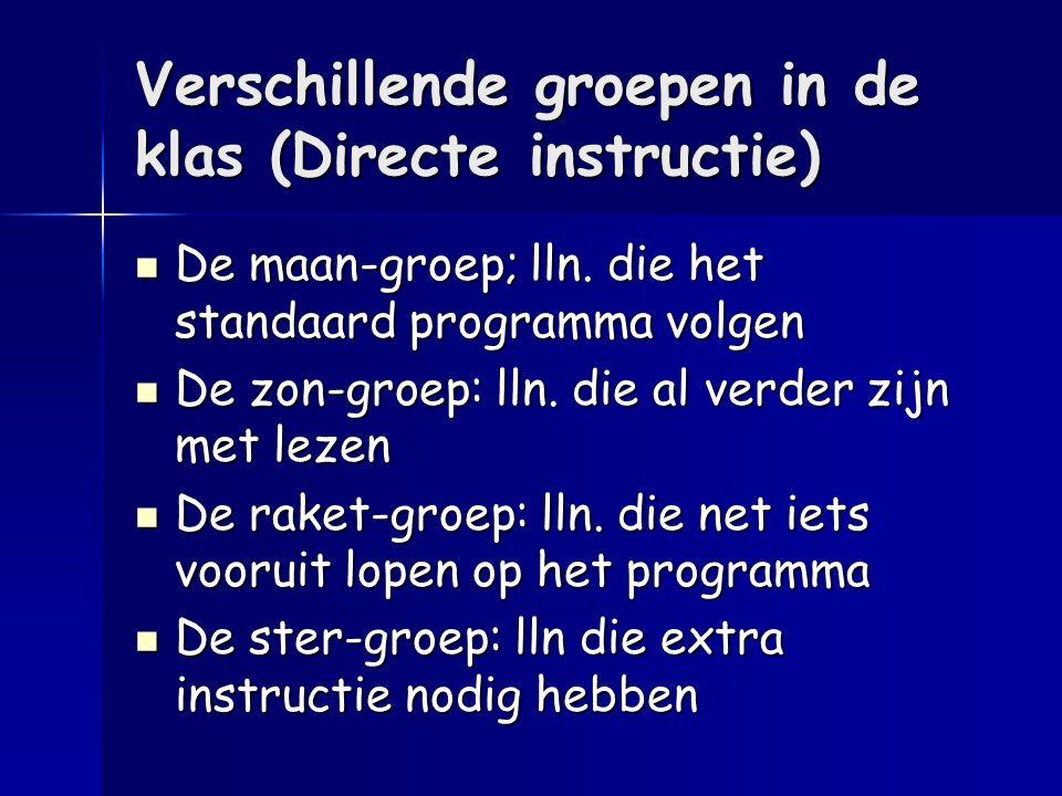 Verschillende groepen in de klas (Directe instructie)