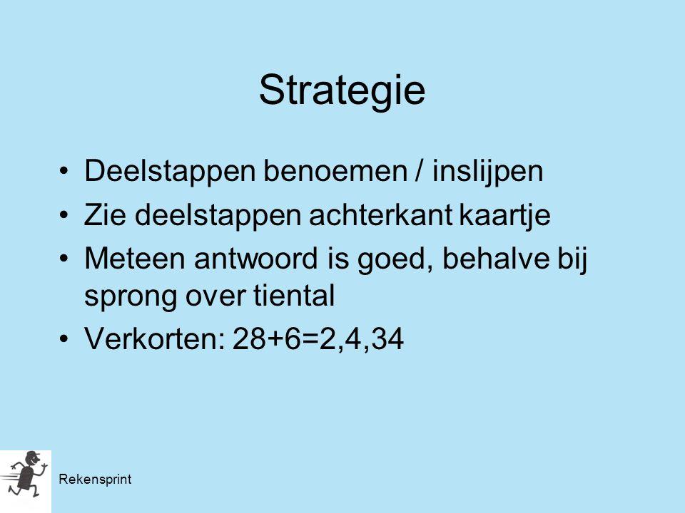 Strategie Deelstappen benoemen / inslijpen