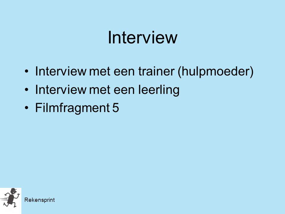 Interview Interview met een trainer (hulpmoeder)