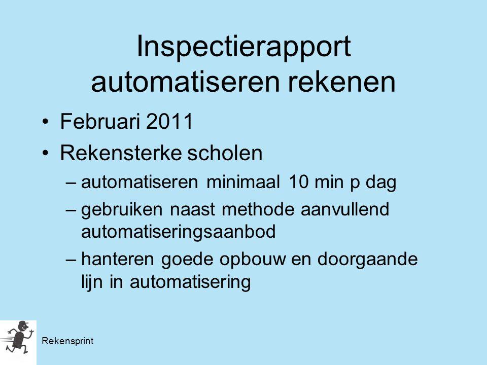 Inspectierapport automatiseren rekenen