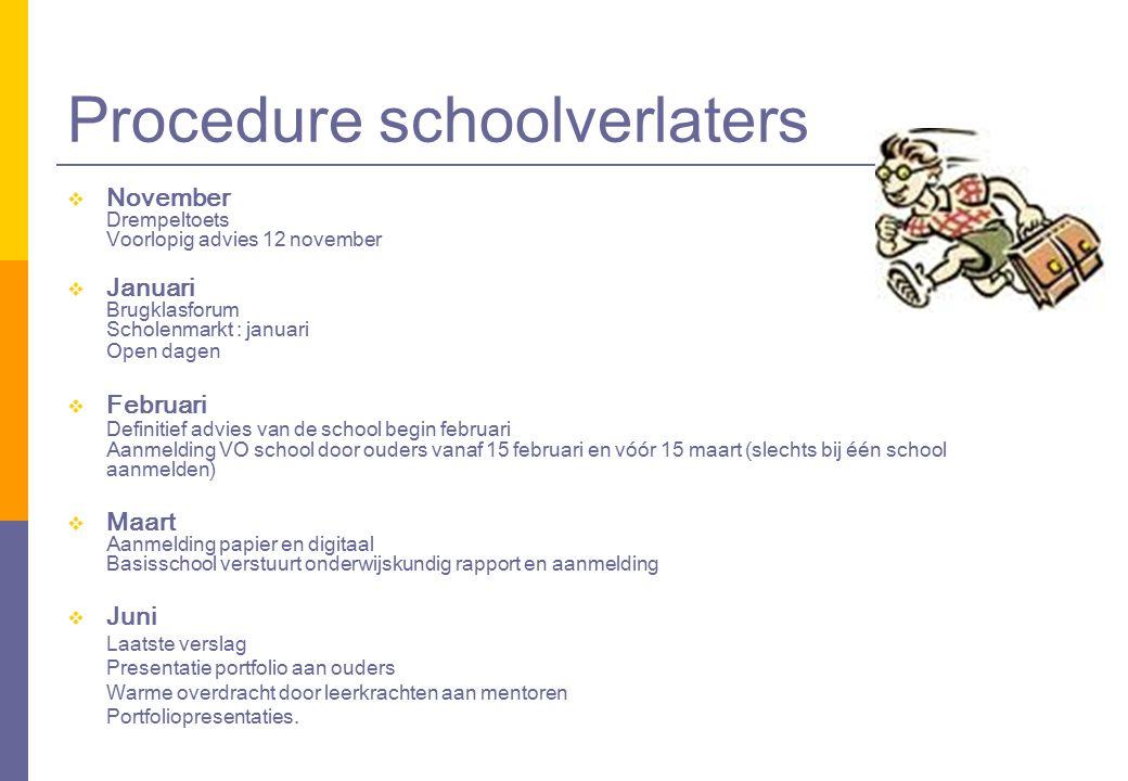 Procedure schoolverlaters