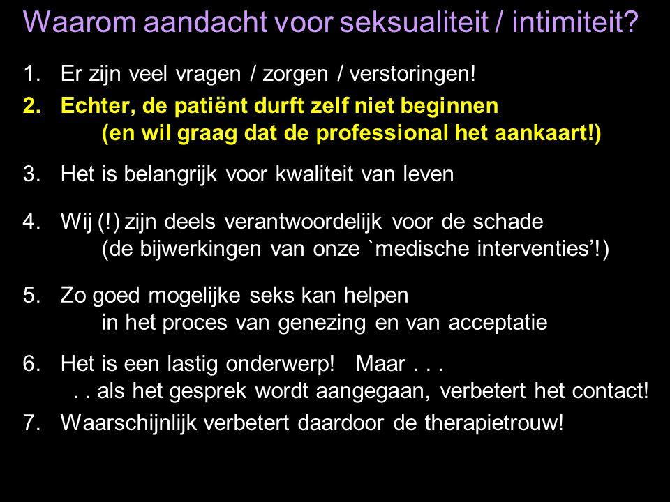 Waarom aandacht voor seksualiteit / intimiteit
