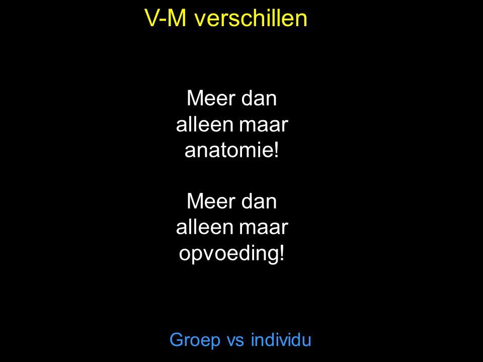 V-M verschillen Meer dan alleen maar anatomie!