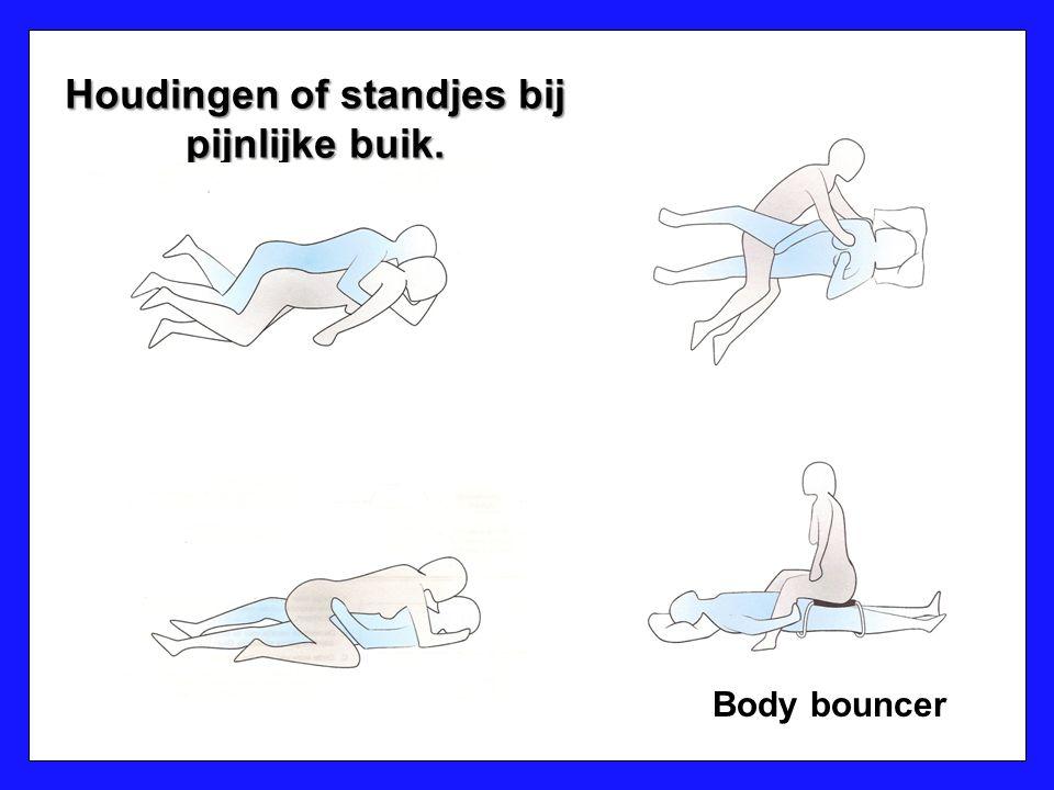 Houdingen of standjes bij pijnlijke buik.