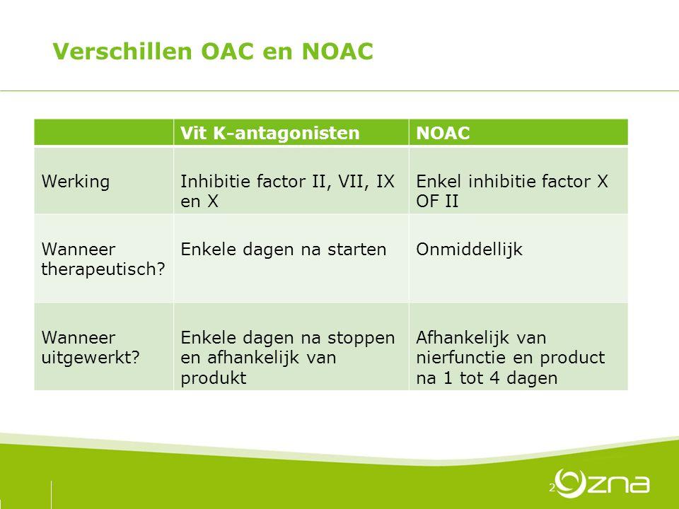 Verschillen OAC en NOAC