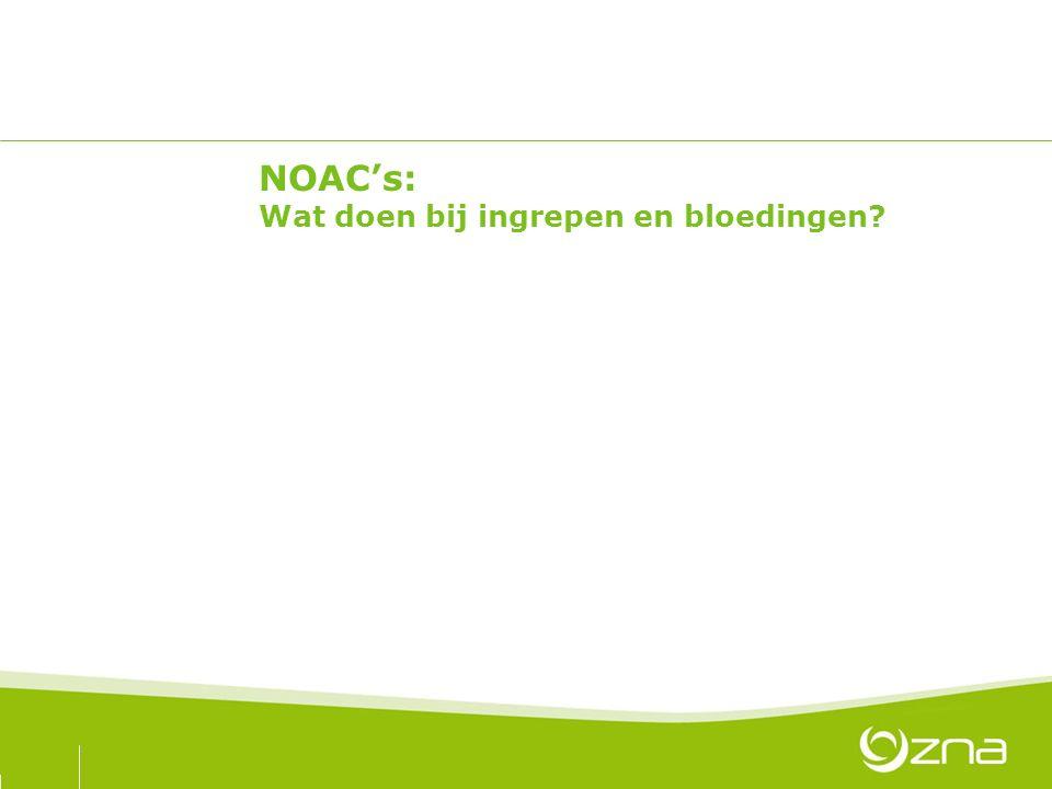 NOAC's: Wat doen bij ingrepen en bloedingen