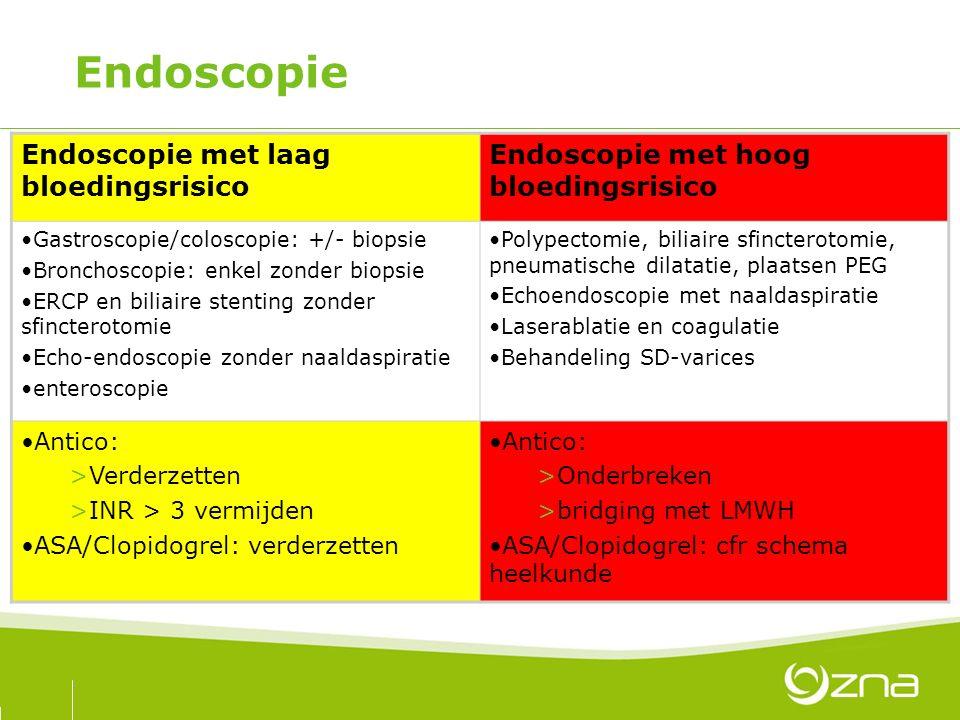 Endoscopie Endoscopie met laag bloedingsrisico