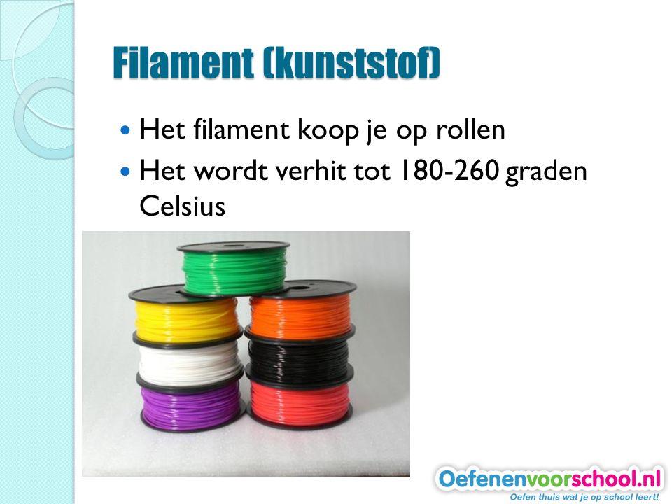 Filament (kunststof) Het filament koop je op rollen