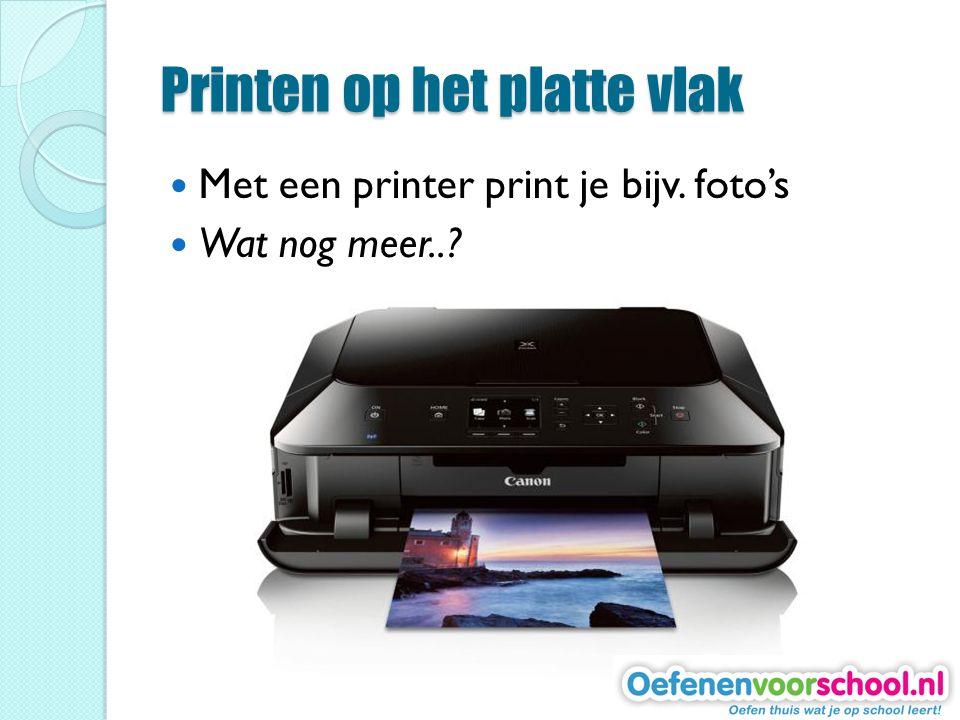 Printen op het platte vlak