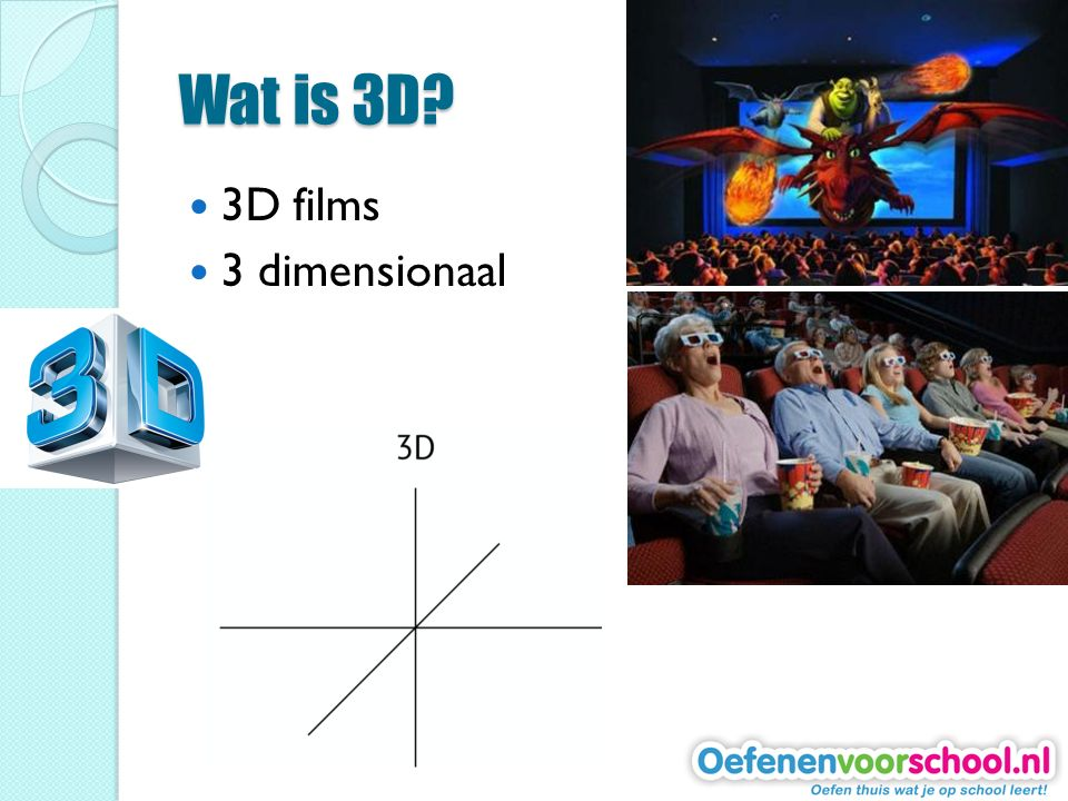 Wat is 3D 3D films 3 dimensionaal