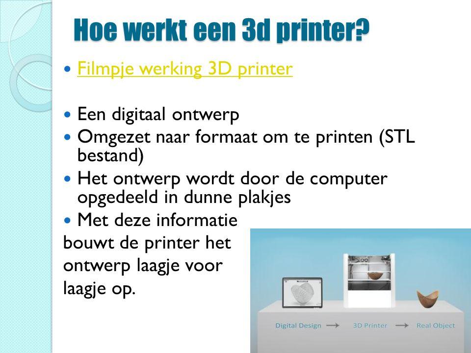Hoe werkt een 3d printer Filmpje werking 3D printer