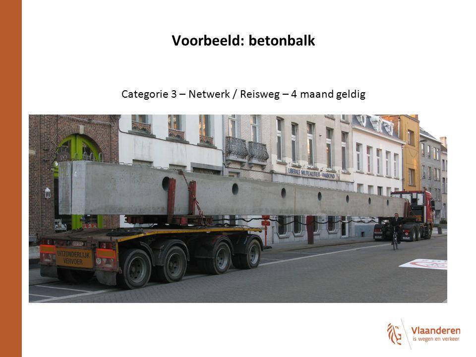 Categorie 3 – Netwerk / Reisweg – 4 maand geldig
