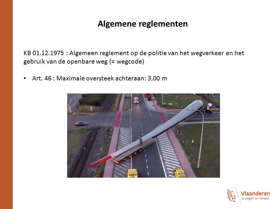 Algemene reglementen KB 01.12.1975 : Algemeen reglement op de politie van het wegverkeer en het gebruik van de openbare weg (= wegcode)