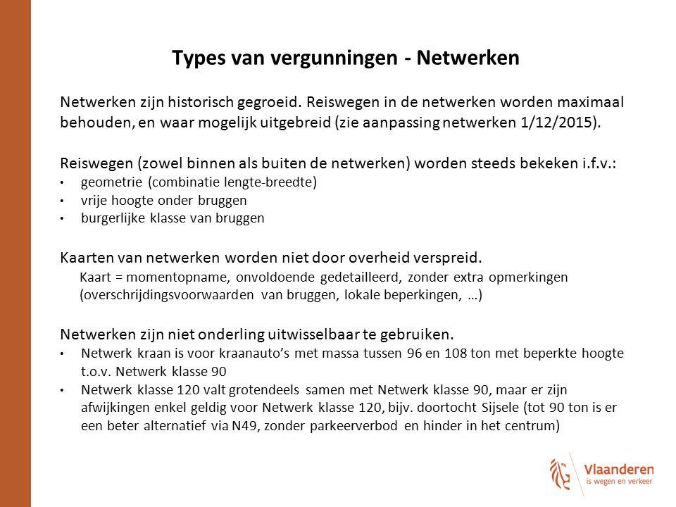 Types van vergunningen - Netwerken