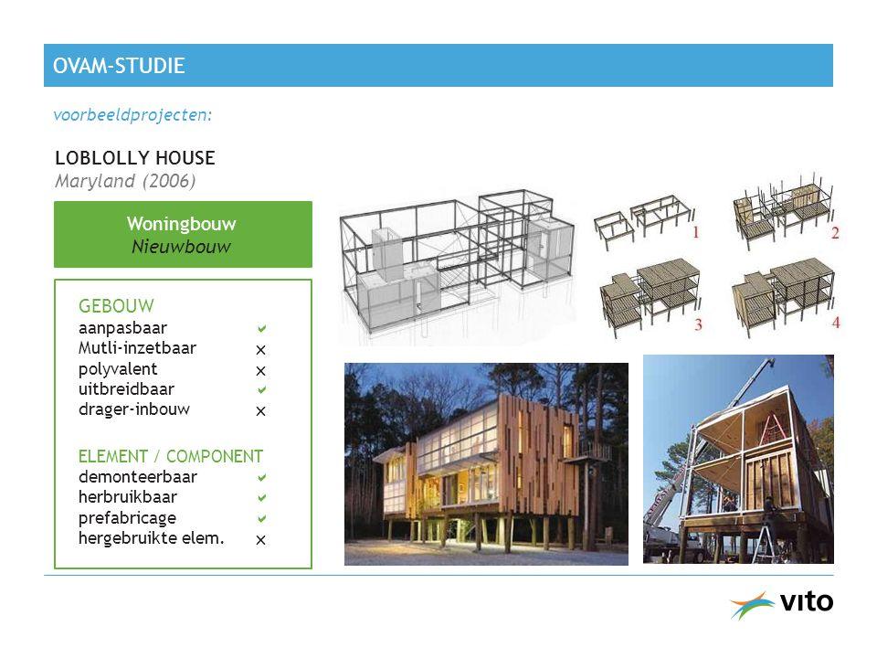 OVAM-studie LOBLOLLY HOUSE Maryland (2006) Woningbouw Nieuwbouw GEBOUW