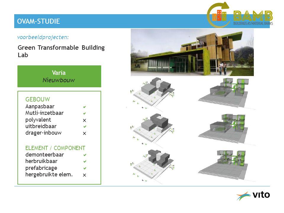 OVAM-studie Green Transformable Building Lab Varia Nieuwbouw GEBOUW