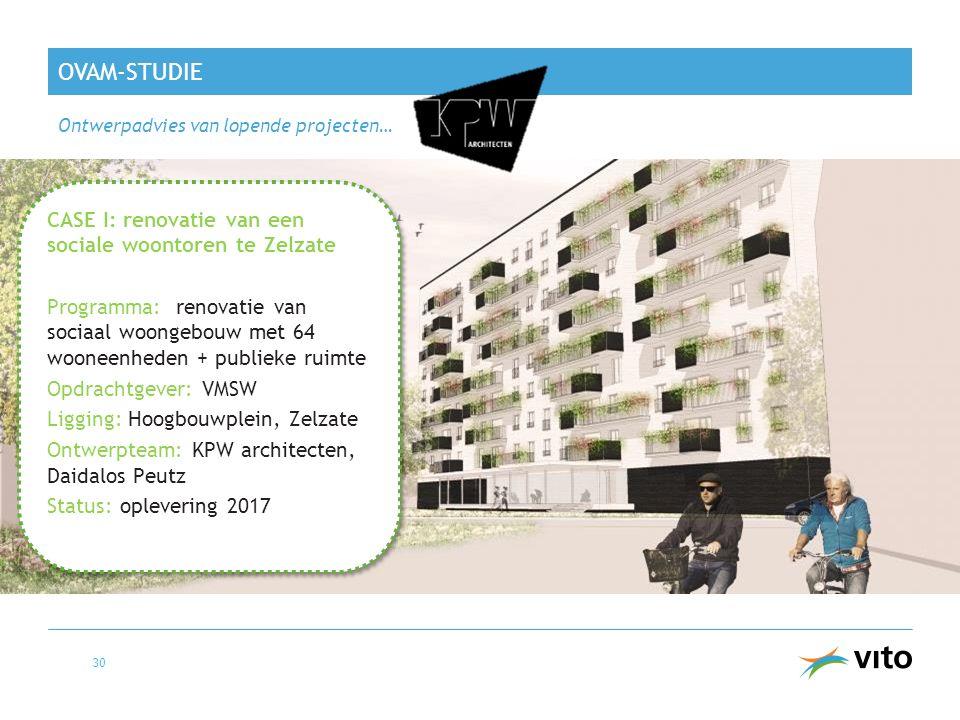 OVAM-studie CASE I: renovatie van een sociale woontoren te Zelzate