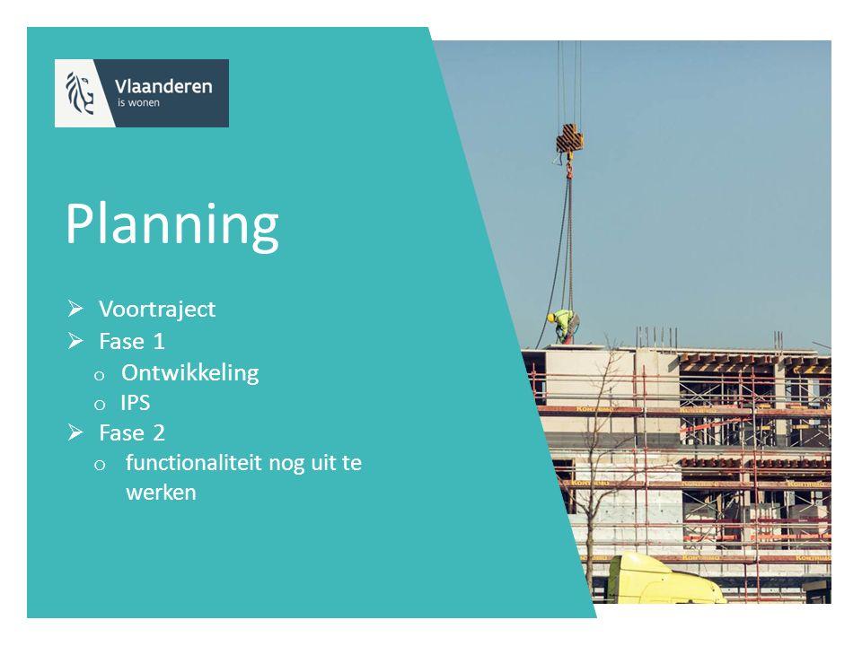Planning Voortraject Fase 1 Ontwikkeling Fase 2 IPS