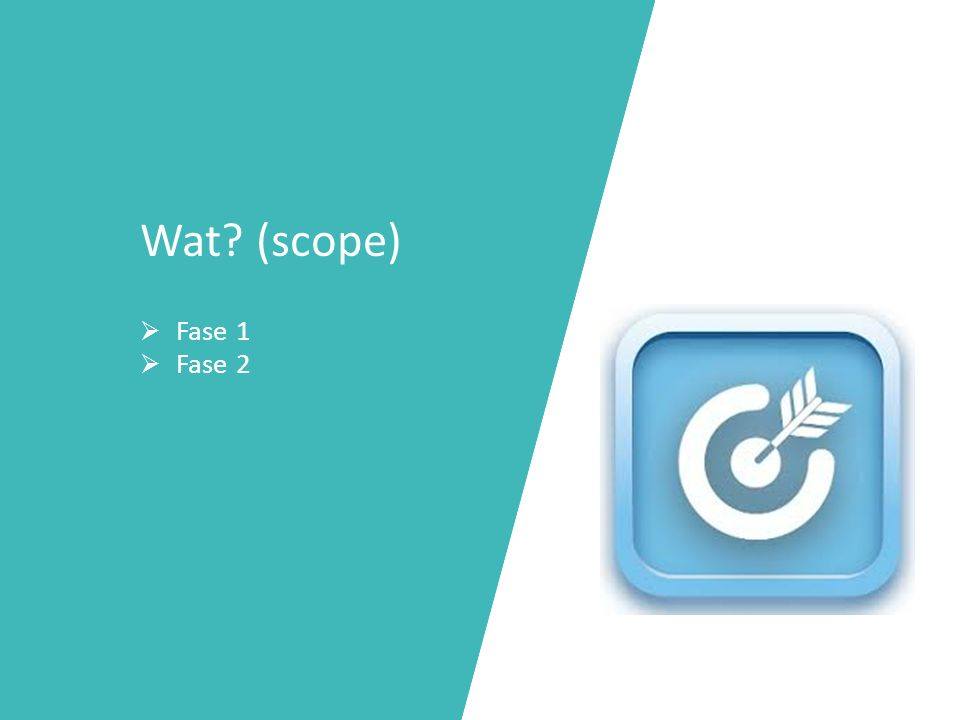 Wat (scope) Fase 1 Fase 2
