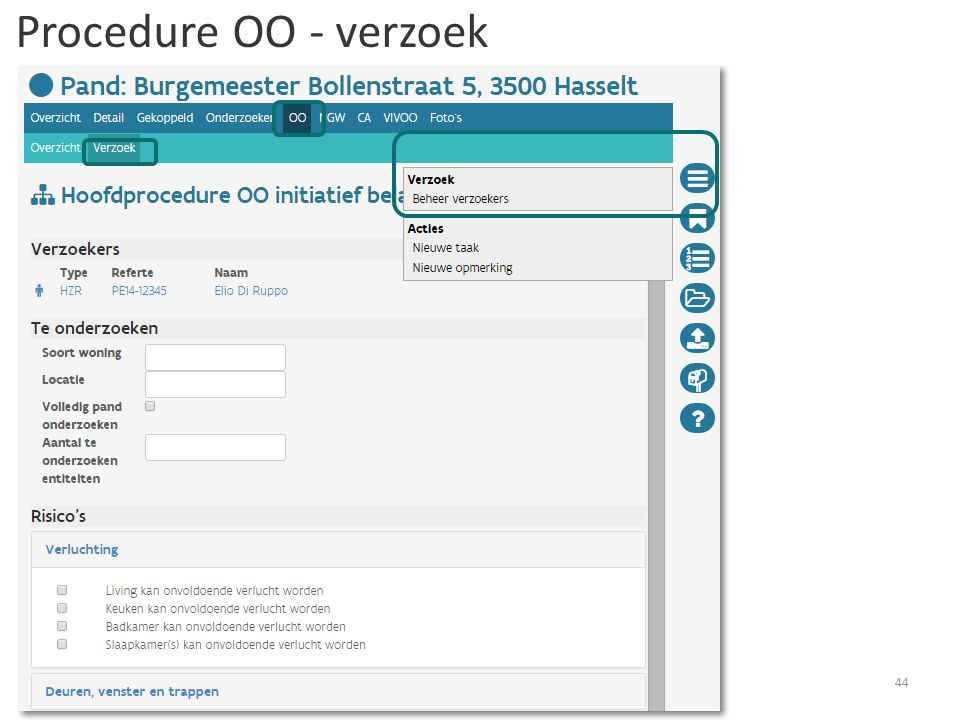 Procedure OO - verzoek