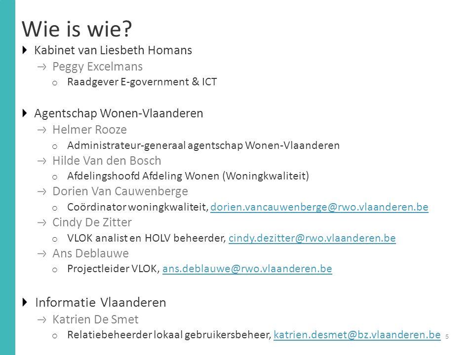 Wie is wie Informatie Vlaanderen Kabinet van Liesbeth Homans