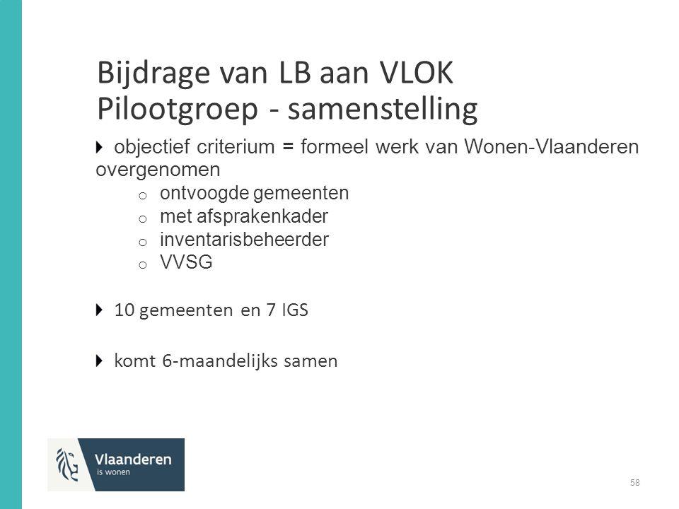 Bijdrage van LB aan VLOK Pilootgroep - samenstelling