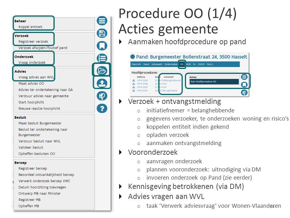 Procedure OO (1/4) Acties gemeente