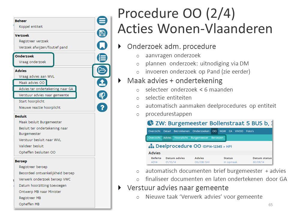 Procedure OO (2/4) Acties Wonen-Vlaanderen