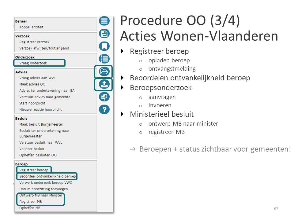Procedure OO (3/4) Acties Wonen-Vlaanderen