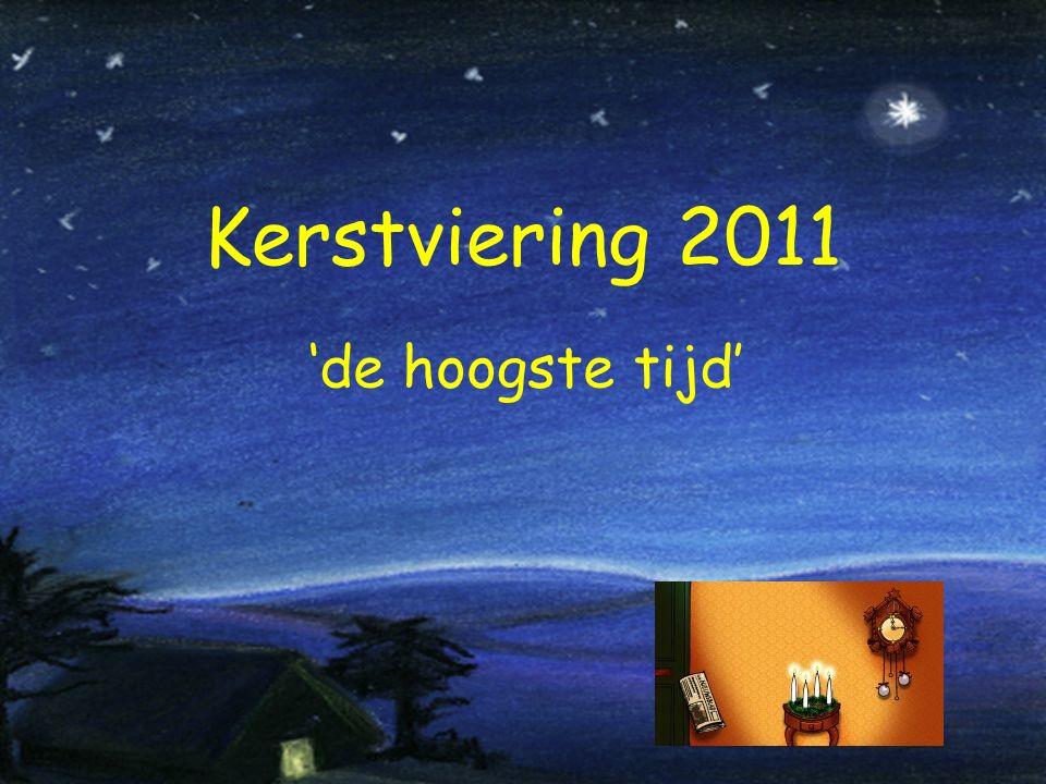 Kerstviering 2011 'de hoogste tijd'