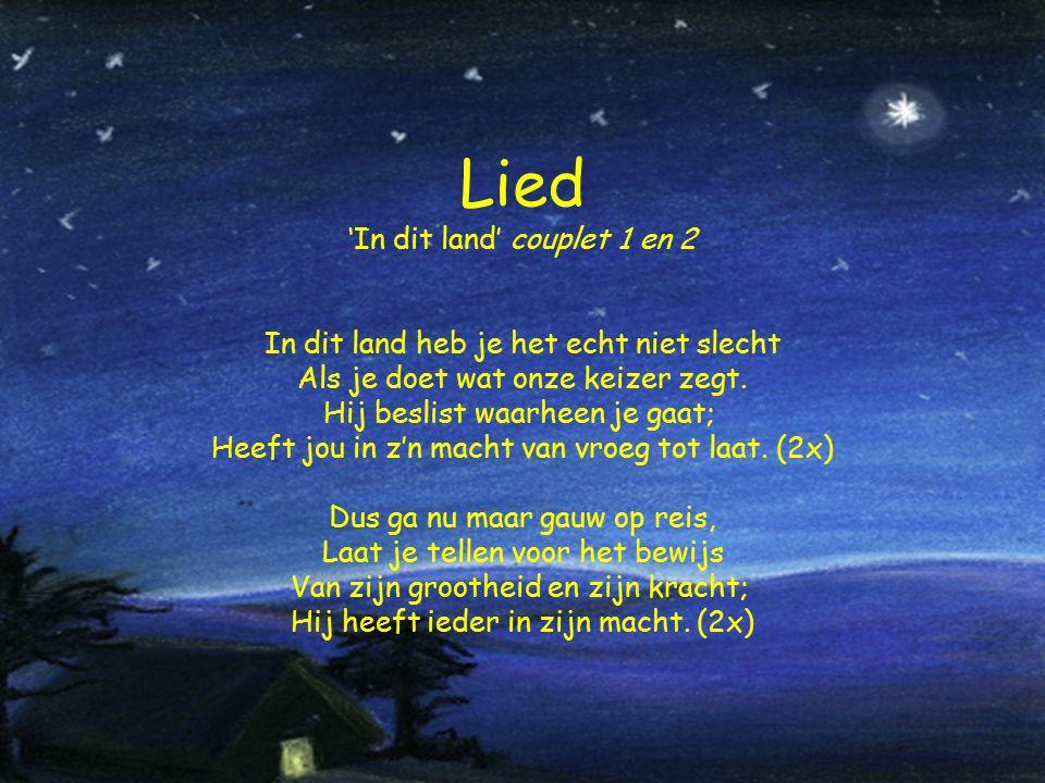Lied 'In dit land' couplet 1 en 2