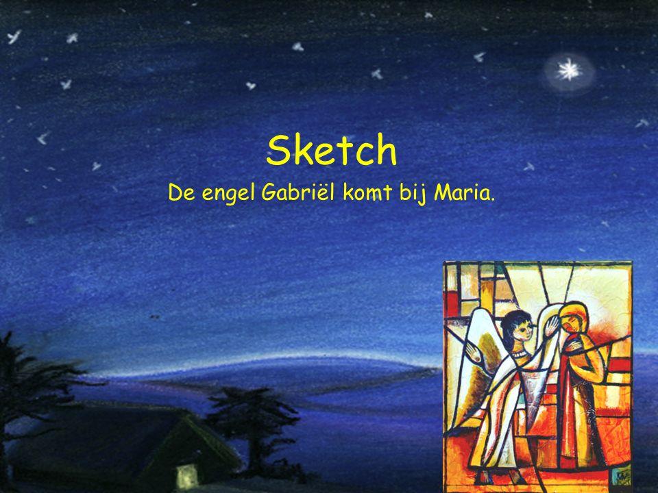 Sketch De engel Gabriël komt bij Maria.