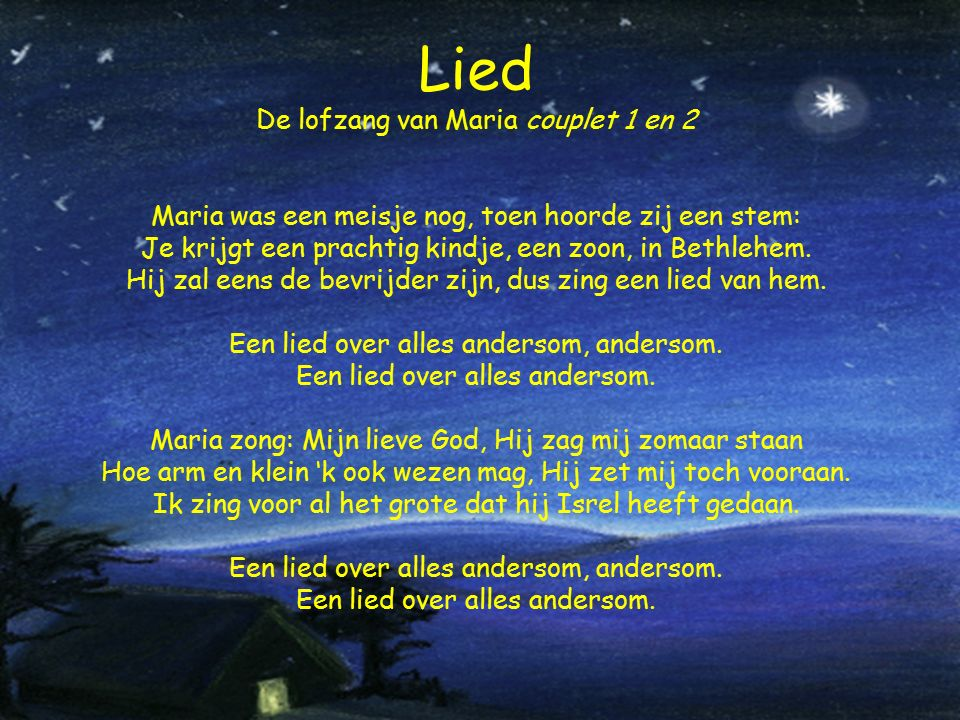 Lied De lofzang van Maria couplet 1 en 2