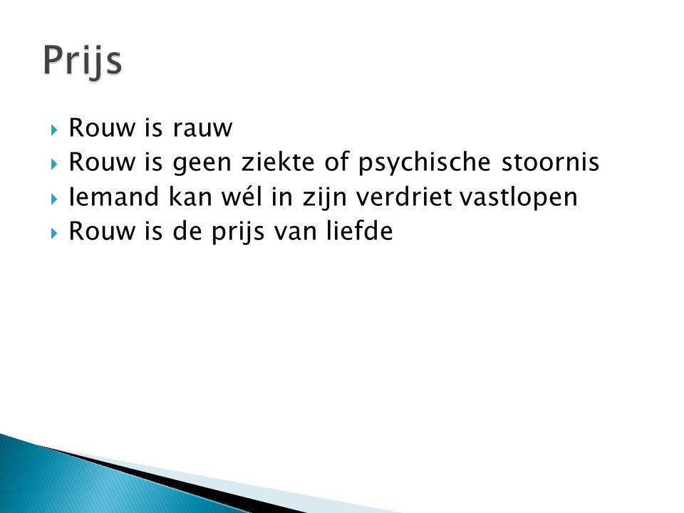 Prijs Rouw is rauw Rouw is geen ziekte of psychische stoornis